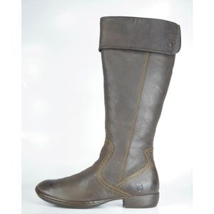 Born Peri Brown Tall Side Zip Riding Boots 39 NEW